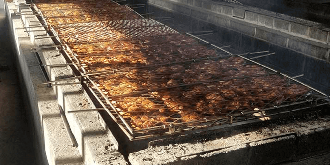 Example of a large BBQ Pit Slow Smoking Foods
